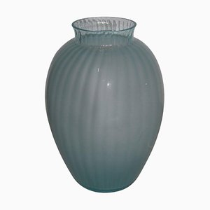Lámpara de mesa en forma de jarrón de cristal de Murano de Carlo Moretti, años 70
