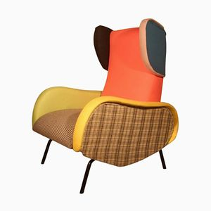 Mid-Century Multicolored Lounge Chair
