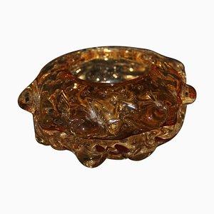 Cuenco o cenicero vintage de cristal de Murano
