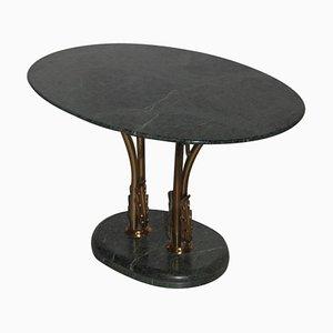 Mid-Century Italian Green Marble Coffee Table