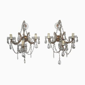 Large Maria Theresa Sconces, 1940s, Set of 2