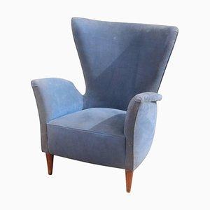 Italienischer Mid-Century Sessel mit geometrischem Design