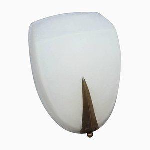 Lámpara de pared minimalista de latón, años 50