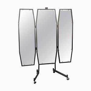 Espejo de metal lacado, años 50