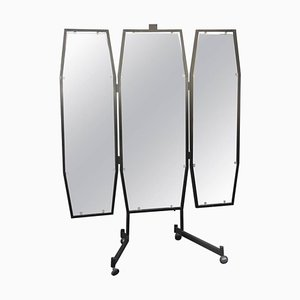Lacquered Metal Mirror, 1950s