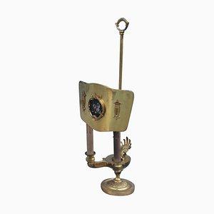 Lámpara de mesa modernista de bronce, años 40