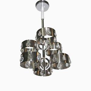 Schwarze Deckenlampe von Gaetano Sciolari, 1970er