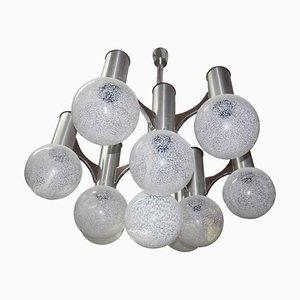 Lámpara de araña escultural de Gaetano Sciolari, años 70