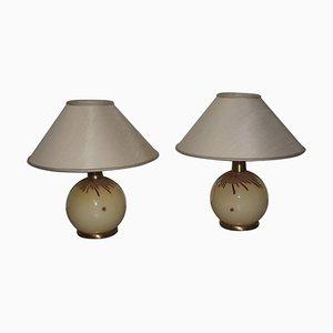 Lámparas de mesa vintage de cristal de Murano de La Murrina, años 70. Juego de 2