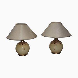 Lampade da tavolo vintage in vetro di Murano di La Murrina, anni '70, set di 2