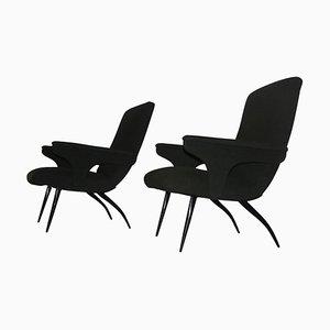 Vintage Sessel von Gigi Radice für Minotti, 1950er, 2er Set