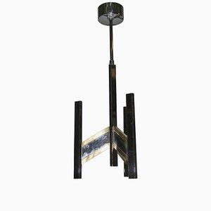 Lámpara de araña minimalista vintage de Gaetano Sciolari, años 70
