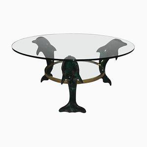 Italian Dolphins Coffee Table, 1970s