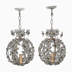 French Chandeliers, 1950s, Set of 2