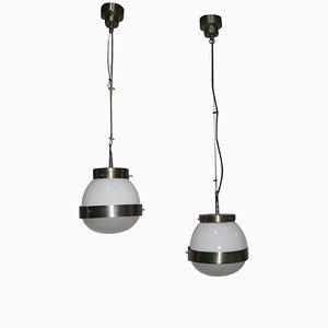 Lámparas de techo Delta italiana de Sergio Mazza, años 60. Juego de 2