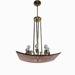 Lámpara de araña italiana Mid-Century moderna, años 40