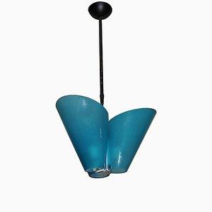 Lámpara de araña de cristal de Murano de Federico De Majo, años 80
