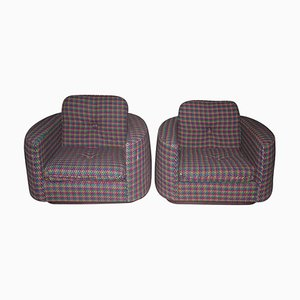 Vintage Art Deco Lounge Chairs by Rosita Missoni, Set of 2