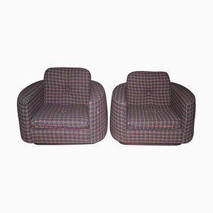 Vintage Art Deco Lounge Chairs by Rosita Missoni, Set of 2