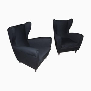 Mid-Century Highback Lounge Chairs by Paolo Buffa, Set of 2