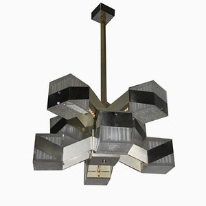 Cubic Modernist Chandelier, 1970s
