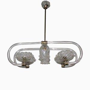 Lámpara de araña de cristal de Murano de Barovier & Toso, años 40