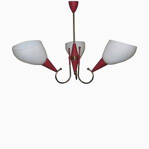 Lámpara de araña italiana, años 50