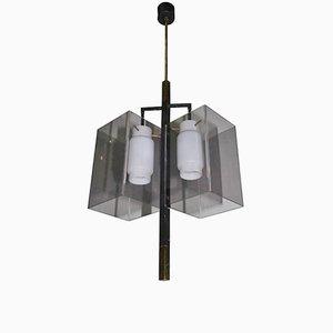 Lámpara de araña italiana minimalista de Stilux, años 50