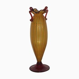 Vase en Verre de Murano Artisanal, 1940s