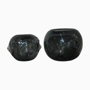 Murano Glass Vases, 1960s, Set of 2