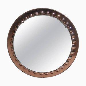 Italienischer Mid-Century Spiegel von Cristal Art