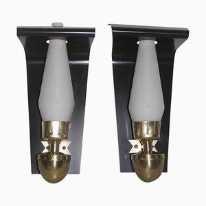 Lámparas de pared italianas Mid-Century, años 50. Juego de 2