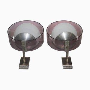 Vintage Wandlampen aus Plexiglas & Aluminium von Stilux Milano, 1960er, 2er Set