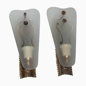 Mid-Century Italian Sconces, 1940s, Set of 2