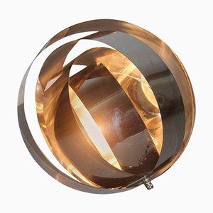Lámpara de mesa vintage de acero curvado