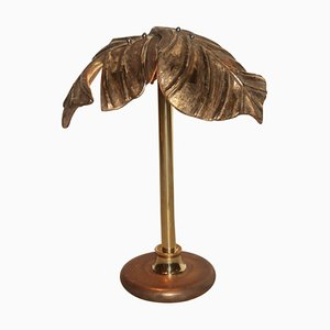 Vintage Italian Ceramic & Brass Table Lamp