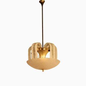 Lámpara de araña de cristal de Murano artístico, años 40