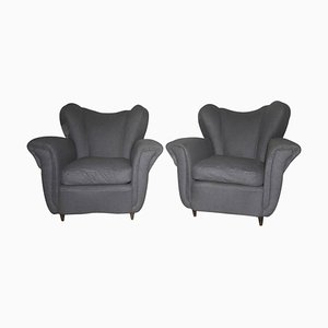 Mid-Century Italian Armchairs, 1940s, Set of 2