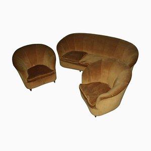 Mid-Century Italian Curved Living Room Set