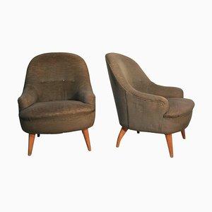 Mid-Century Modern Italian Armchairs, 1940s, Set of 2