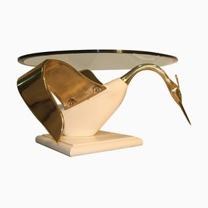 Table Basse Ronde Cygne, Italie, 1970s