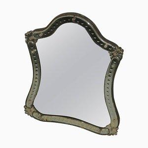 Espejo de mesa vintage de cristal, años 20