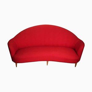 Geschwungenes italienisches Sofa, 1950er
