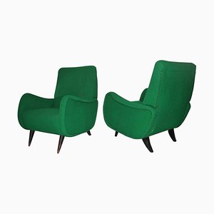Italian Mid-Century Armchairs, Set of 2