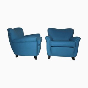 Mid-Century Armchairs, 1940s, Set of 2