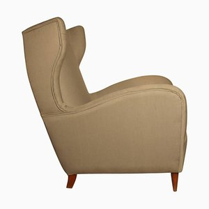 Mid-Century Italian High Back Armchair by Paolo Buffa