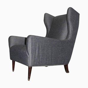 Mid-Century Sessel mit hoher Rückenlehne, 1950er