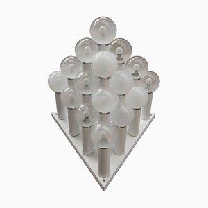 Große pyramidenförmige italienische Einbaulampe, 1970er