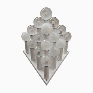 Large Italian Pyramidal Flush Mount, 1970s