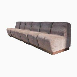 Juego de sofás modular italiano vintage, años 70
